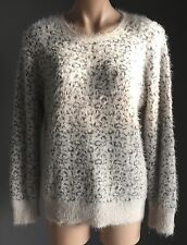 Gorgeous GORDON SMITH Grey & Metallic Silver Animal Print Jumper Size M/12