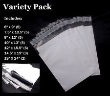 30 Poly Bag Postal Mailing Envelope Variety Pack  7 Sizes (Includes XL Mailers)