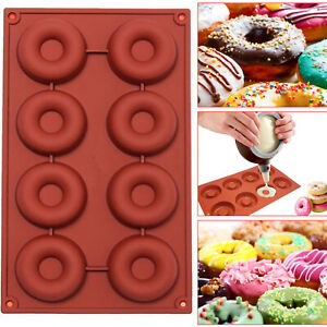 SILICONE DONUT DOUGHNUT MUFFIN SOAP MOULD ICE TRAY BAKING MOLD CAKE PAN MAKER UK