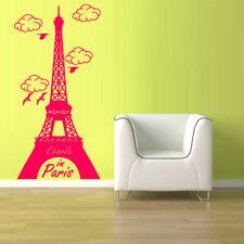 Wall Vinyl Sticker Decal Eiffel Tower Decal Paris France (Z1072)