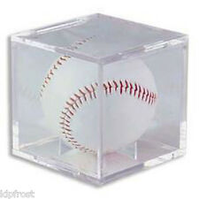 12 Square Baseball Display Case Cube Holders w/ Cradle