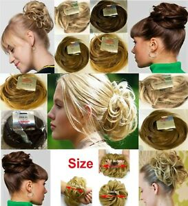 Stranded Hair Scrunchie Flicky Wavy Hairpiece Messy Updo Bun Hair Extension