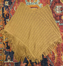 Sonoma Life + Style Womens Cable Knit Camel Tan Poncho S/M
