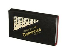 DOMINOES SET OF 28 DOUBLE SIX With PVC CARRY CASE TRADITIONAL TRAVEL GAME TOY