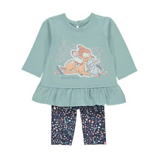 Disney Baby Girl Bambi Thumper Top and Leggings Outfit 3-6 Months NEW