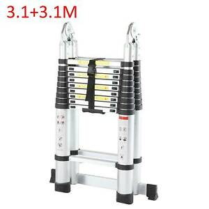 6.2m A Frame Telescopic Ladder Extendable Multi-Purpose Aluminum Folding Steps