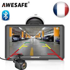 """Awesafe 7"""" Système de Navigation GPS Europe Map avec Caméra Arrière et BT"""