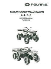 2012 2013 Polaris Sportsman 800 EFI 4x4 6x6 Big Boss service manual on CD