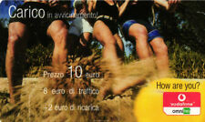 *3246 SCHEDA RICARICA USATA VODAFONE CARICO 10 31 DIC 2006 OCR 24 CAB 32