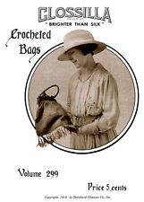 Bear Brand #299 c.1918 - Vintage Crochet Patterns for WWI Era Purses & Bags