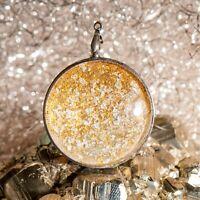 Berk Amulett Sonnenlichtmit Diamant, Blattgold und Blattsilber   P-130