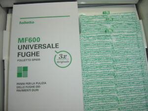 PANNI UNIVERSALI FUGHE 3PZ PULILAVA SP600 SP600S FOLLETTO VORWERK  ORIGINALE