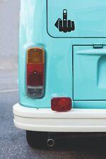 Middle Finger -  Funny Car Decal Sticker Vinyl - Gloss Black