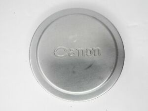 Canon Silver Metal Front Camera Lens Cap For Rangefinder w/ 58mm Filter Ring