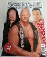 MAGAZINE - WWF WWE Wrestling Limited Ed 14 Giant Posters Rock Stone Cold Kane