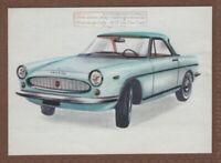 1960s Fiat Abarth 2400 Car Automobile Vintage Ad  Card