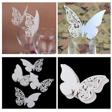 10 PCS Table Mark Wine Glass Cards Favor New Butterfly Name Place Party Wedding