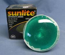 Sunlite 75PAR30/FL-Green Halogen 75-Watt Medium Based Red Colored Bulb NIP