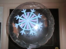 "18"" CHRISTMAS XMAS FOIL BALLOON   CLEAR SNOW FLAKE NEW YEAR"