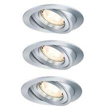 Premium Ebl Set Perforado Aluminio Redondo Schwb. Led 3x4W 230V GU10 51mm Girado