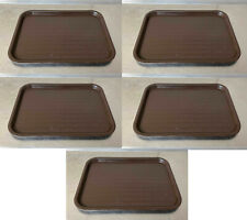 Lot of 5 Carlisle Ct1216 Brown Fast Food Trays 12 x 16 cafe cafeteria serving