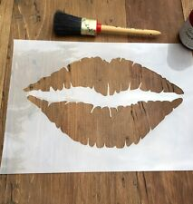 Lips Stencil, Mouth Stencil, Kiss Stencil, Lipstick Stencil, Love Wall Art