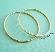 2pcs 20mm 14k gold filled round endless hoop loop earwire E21g