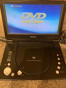 Rare Proline DVDP920W Portable DVD Player With Case, Remote Control And Cables