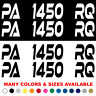 """Custom Boat Registration Numbers Jet Ski Letters Decals Set of 2 3"""" x 18"""" xe"""