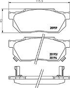Mintex MDB1243 Brake Pad Set Honda Civic CRX Prelude