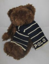"10"" Brown Polo Bear Plush Stuffed Animal Toy 12P16 toy lovey cute Soft Cuddly"