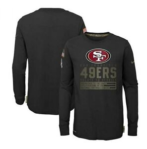 San Francisco 49ers Nike Youth Boys 2020 Salute To Service Long Sleeve Shirt