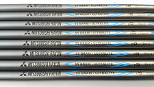 MITSUBISHI RAYON 55g JAPAN 4-PW+wedge R GRAPHITE IRON SHAFTS SET 8 taper ADAMS
