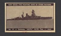 DOUGLASS - FIGHTING SHIPS OF OTHER NATIONS - #21 BATTLESHIP MUTU