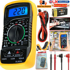 Digital LCD Multimeter Voltmeter Ammeter OHM AC DC Current Circuit Buzzer Tester