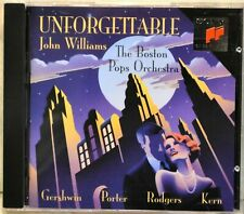 Boston Pops Unforgettable John Williams CD LIKE NEW Gershwin Porter Rodgers Kern