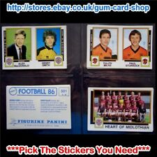 ☆ Panini Football 86  (Stickers 500 - 574) (GOOD) *Select the Stickers You Need*