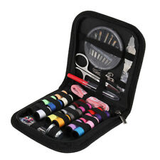 58pcs Travel Thread Threader Needle Tape Measure Scissor Sewing Kit Case New
