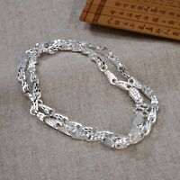 Pure S999 Sterling Silver Chain Dragon Head Triangle Scale Beads Link Necklace