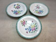 3 vintage Chinese enamel butter pats