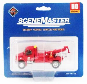 HO Scale Walthers SceneMaster 949-11531 International 4300 Red Tow Truck