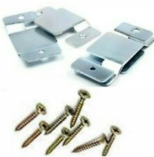 4 x Metal for Corner Sofa/Bed Interlocking Connecting Clips Brackets(Free Screws