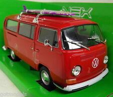 Nex models 1/24 Scale 22522W Volkswagen T2 Bay window 1972 Surf Board Diecast