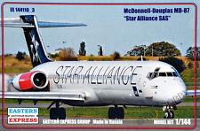 Eastern Express 1/144 McDonnell Douglas MD-87 Star Alliance SAS Civil Airliner