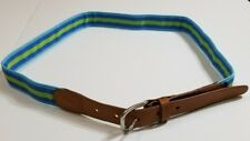 Lands end Blue Green Tab Belt Size 46 NEW NWT