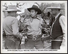 WILD BILL ELLIOTT 1940 Western VINTAGE ORIG PHOTO movie still actors w. guns