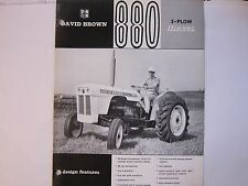 Vintage 1960's David Brown 880 3 Plow Diesel Tractors Brochure LOTS More Listed