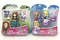 Disney Princess Little Kingdom Cinderella & Brave Merida Snap-Ins Doll Sets New