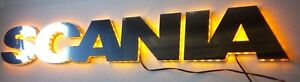 SCANIA LED EMBLEM, stainless steel, 24v light, front, outstanding look NEW!