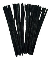 Black Pipe Cleaners Craft Stems x 100  30cm x 6mm  FREE UK DELIVERY